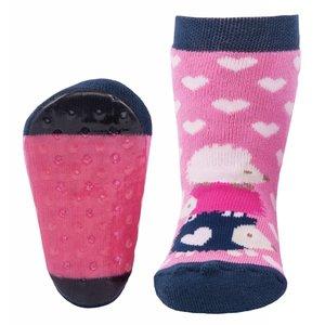 Ewers anti-slip sokken Stoppi egel roze