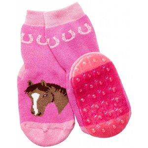 Ewers anti-slip sokken Stoppi paard roze