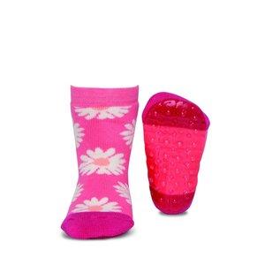 Ewers anti-slip sokken Stoppi bloemen roze