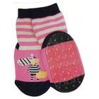 Ewers anti-slip sokken Stoppi zebra roze