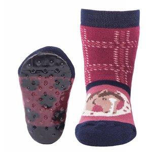 Ewers anti-slip sokken Stoppi roze paard