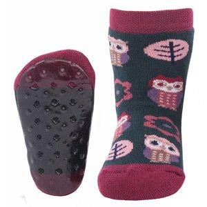Ewers anti-slip sokken Stoppi uiltje nachtgroen