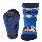 Ewers anti-slip sokken Stoppi blauw locomotief