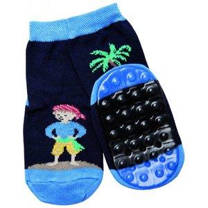Ewers anti-slip sokken Stoppi piraat marine blauw