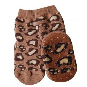 Ewers anti-slip sokken Stoppi Leo mocca bruin
