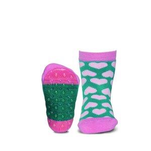 Ewers anti-slip sokken Stoppi hartjes groen