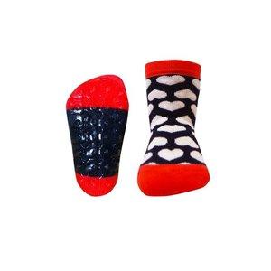 Ewers anti-slip sokken Stoppi hartjes marine wit