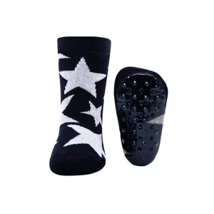 Ewers anti-slip sokken Stoppi sterren groot zwart