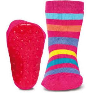 Ewers anti-slip sokken Stoppi strepen fuchsia