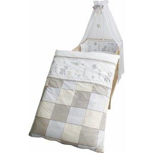 Roba 4 delig wiegenset/beddenset( kussen, deken, hemeltje, bedrandbeschermer) 100x35 bosdieren