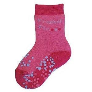 Ewers anti-slip sokken krabbelfix fuchsia