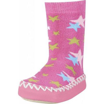 Playshoes soksloffen sterren roze