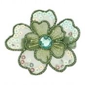 No Slippy Hair Clippy haarspeld bloem Michelle groen