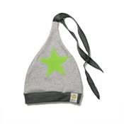 ByKay muts antraciet grijs melee met groene ster