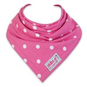 Skibz bandana/ slabbetje bolletjes roze