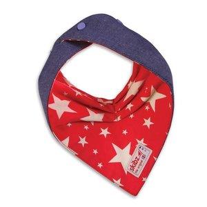 Skibz Skibz doublez jeans slabbetje sterren rood