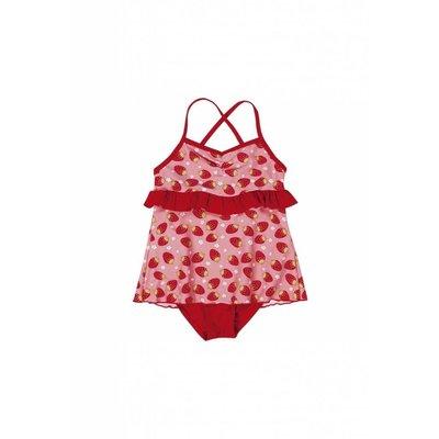 Playshoes badpak met rokje aardbei rood roze