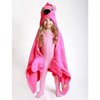 Zoocchini kids badcape Franny the Flamingo