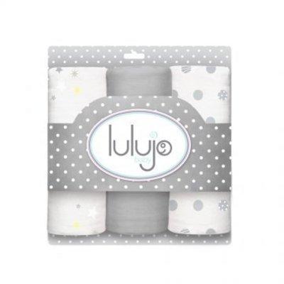 Lulujo swaddle hydrofieldoek medium Calming Grey
