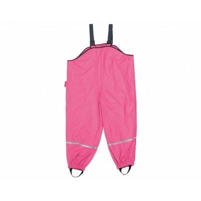 Playshoes regenbroek met bandjes katoen gevoerd roze
