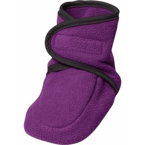 Playshoes fleece slofjes paars