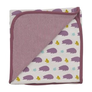 Organics for Kids eco deken Hedgehog plum