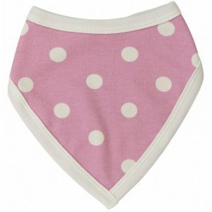 Organics for Kids eco bandana Springtime Spotty pink