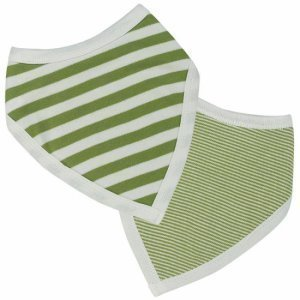 Organics for Kids eco bandana Springtime Stripes green