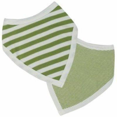 Organics for Kids eco bandana Springtime Stripes green
