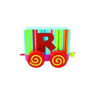 Tatiri houten treinletter R