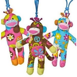 Print Pizzazz knuffel Sock Monkey Clip Ons