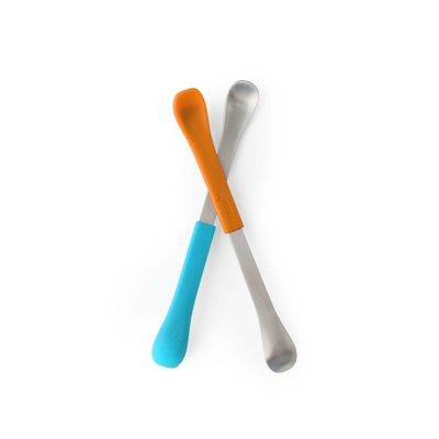 Boon SWAP Ergonomisch bestek oranje aqua
