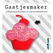 Poppedop gaatjesmakers roze cupcake en schorpioentje