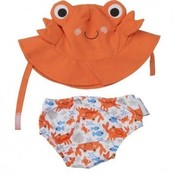 Zoocchini zwemluier en zonnehoedje Krab