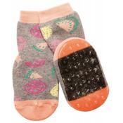 Ewers anti-slip sokken Stoppi vruchten grijs