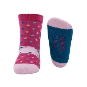 Ewers anti-slip sokken krabbelfix kat fuchsia