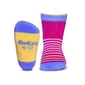 Ewers anti-slip sokken krabbelfix streepjes roze Op=OP
