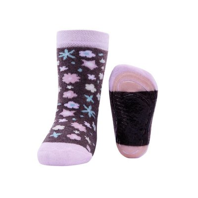 Ewers anti-slip sokken Stoppi bloemen allover beige Op=Op