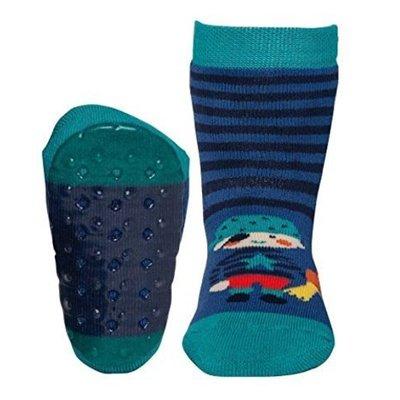 Ewers anti-slip sokken Stoppi piraat blauw groen Op=Op