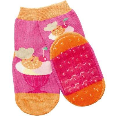 Ewers anti-slip sokken Stoppi ijsbeker roze