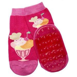 Ewers anti-slip sokken Stoppi ijsbeker fuchsia Op = Op