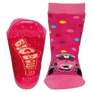 Ewers anti-slip sokken Stoppi Bobbycar fuchsia Op=Op