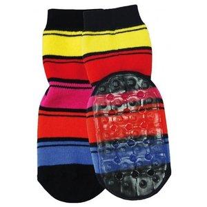 Ewers anti-slip sokken Stoppi strepen felgekleurd