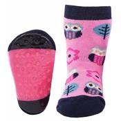 Ewers anti-slip sokken Stoppi uiltje roze
