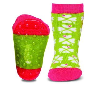 Ewers anti-slip sokken Stoppi klavertje vier groen Op = Op