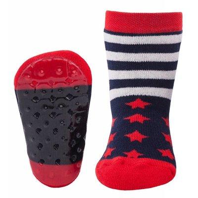 Ewers anti-slip sokken Stoppi sterren en strepen marine Op=Op