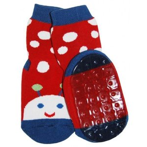 Ewers anti-slip sokken Stoppi lieveheersbeestje rood