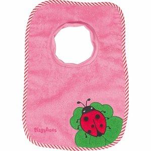 Playshoes Slabbetje roze lieveheersbeestje