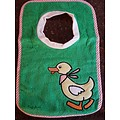 Playshoes Slabbetje groen eend