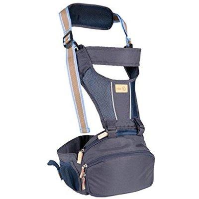 Roba hip-seat 'Hip Hopper', draagzak en heupriem, rugvriendelijk voor thuis en onderweg( blauw)